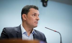 El titular de Presidència, Economia i Empresa, Jordi Gallardo, en la compareixença d'ahir posterior al consell de ministres.