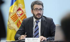 El ministre portaveu, Eric Jover, en la compareixença de premsa d'ahir.