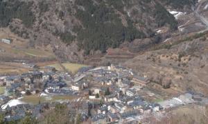 Vista general del poble d'Ordino.