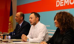 Areny, Espot i Serra en la roda de premsa d'ahir.