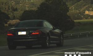 El cotxe circulant a 197 quilòmetres per hora.