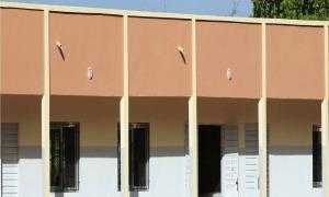 L'escola que es va construint a Sokone.