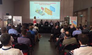 Un moment de la intervenció de la ministra Calvó en la Jornada de Canet de Rosselló.