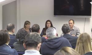 Un moment de la reunió de la Unió de comerciants andorrans del tabac que va tenir lloc ahir a Encamp.
