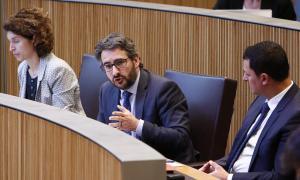 El ministre de Finances, Eric Jover, en una sessió del Consell General.