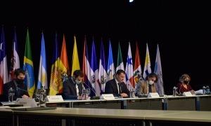 Un moment de la celebració de la 4a Reunió de ministres i altes autoritats iberoamericanes de Ciència, Tecnologia i Innovació.