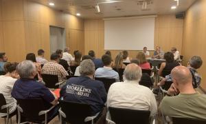 Una reunió anterior dels impulsors de Terceravia amb els representants dels comitès locals de la formació.