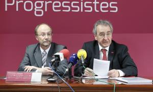 Víctor Naudi i Jaume Bartumeu en una compareixença anterior.