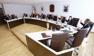 Un moment del consell de comú celebrat ahir.