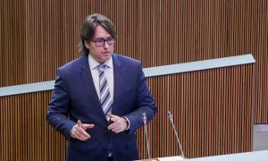 El conseller general d'UL-ILM Carles Naudi d'Areny-Plandolit.