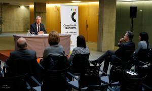 Un moment de la conferència d'Antoni Puigverd.