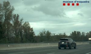 El vehicle 'caçat' pel radar dels mossos d'esquadra a l'AP-7.