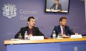 Els consellers generals Gerard Alís i Pere López van presentar ahir les reserves d'esmena del PS al text de modificació de l'IS.