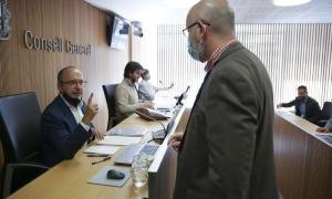 L'exdiputat i membre de la comissió del Pacte de Toledo, Carles Campuzano, ahir a la comissió.