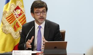 El ministre de Finances, Jordi Cinca, en una compareixença anterior.