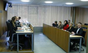 Un moment de la compareixença del titular de Salut, Joan Martínez Benazet, davant la comissió legislativa de Sanitat.
