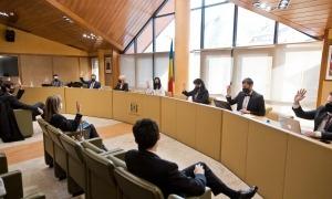 Els consellers aproven un dels punts inclosos en la sessió que ha tingut lloc aquest dimecres.