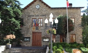 L'antiga casa comuna de Sant Julià de Lòria on se celebren les sessions de Consell de Comú.