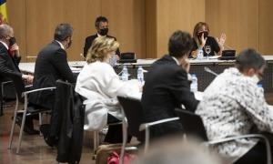 Marsol exposa un dels punts tractats en el Consell de Comú celebrat aquest dimarts.