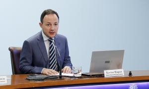 El ministre d'Afers Socials, Justícia i Interior, Xavier Espot, va presentar ahir el text final del projecte de llei d'igualtat.
