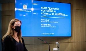 La secretària d'Estat de Salut, Helena Mas, en la compareixença posterior al consell de ministres.