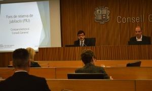 El president de la comissió gestora del Fons de Reserva de Jubilació, Jordi Cinca, va comparèixer a l'agost al Consell General.