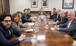 Els membres del patronat de la Fundació Oficina Cimera Iberoamericana Andorra 2020 en la primera reunió.