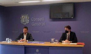 Els consellers generals socialdemòcrates Pere López i Roger Padreny van argumentar ahir els motius del recurs al TC.