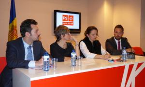 Gerard Alís, Susanna Vela, Rosa Gili i Pere López van explicar ahir el contingut de la querella per les irregularitats del SAAS.