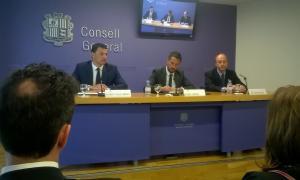 Jordi Gallardo, Pere López i Víctor Naudi van fer ahir una primera valoració de la sentència del TC.