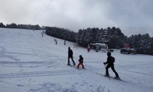 Esquiadors de muntanya a les pistes andorranes aquest cap de setmana.