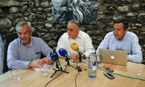Josep Duró, Albert Font i Anton López van presentar ahir el grup d'opinió Virtus Unita.