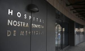 Entrada a l'hospital Nostra Senyora de Meritxell.