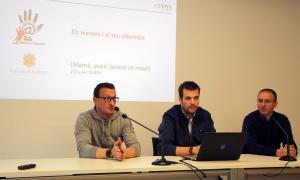 Els integrants de Conand David Julián, Àlex Estalés i Jordi Celades van presentar ahir el segon congrés de ciberseguretat.