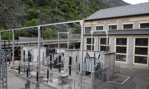 Les instal·lacions de la central hidroelèctrica de FEDA a Encamp.