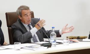 L'actual conseller comunal de la formació Jordi Minguillón, al Comú d'Andorra la Vella.
