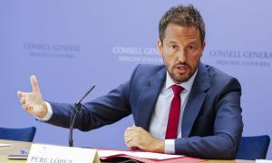 El conseller general del Partit Socialdemòcrata Pere López em una compareoxemça anterior.