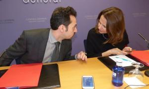 Gerard Alís i Rosa Gili van presentar ahir el contingut de la proposició de llei.