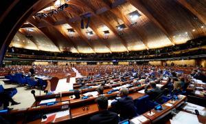 Un moment de la sessió d'hivern de l'Assemblea Parlamentària del Consell d'Europa celebrada la setmana passada.
