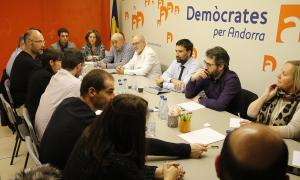 Reunió de l'executiva de DA celebrada ahir al vespre.