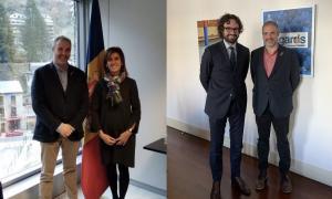 Jordi Fàbrega amb Ester Vilarrubla i amb Ciryl Piquemal, respectivament.
