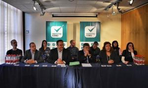 Un moment de la presentació de la candidatura d'Objectiu Comú ahir a Canillo.