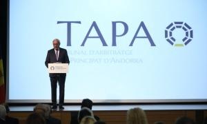 El president del tribunal, Pierre Raoul-Duval, en l'acte de presentació d'ahir.