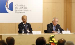 El president de la Cambra de Comerç, Miquel Armengol, en un acte.