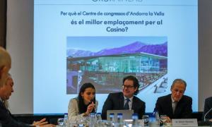 Els directius del Grup Raineau van presentar ahir el projecte del casino al Centre de Congressos, on es preveu ubicar.