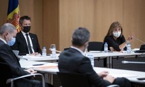 Un instant de la sessió de consell de comú celebrada ahir al Centre de Congressos dela capital.