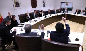 Un moment del consell de comú d'ahir en què es va aprovar el pressupost.