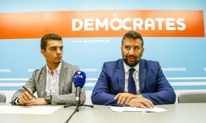 Jordi Ribes i Esteve Vidal van presentar la jornada ahir a la tarda a la seu de DA.
