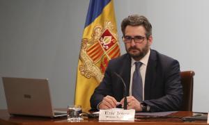 El titular de Finances i portaveu de l'executiu, Eric Jover, durant la compareixença posterior al consell de ministres d'ahir.