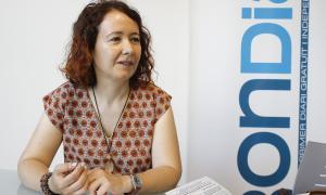 La presidenta de Mans Unides Andorra, Meritxell Farrero.